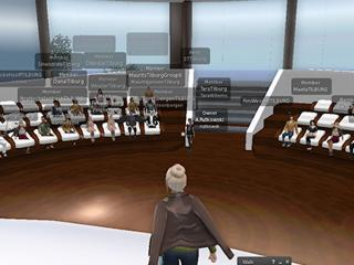 Virtual lecture - empty campus
