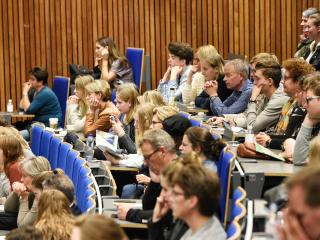 Volle collegezaal