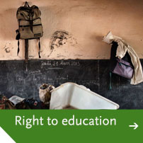 Steun het PhD-project Right to education
