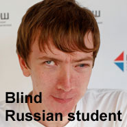 image human library Blind Russian student