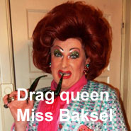 image human library drag queen Miss Baksel